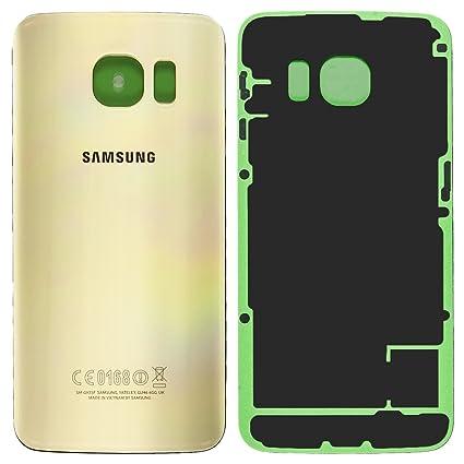 promo code 2c45e c26b2 Original Samsung Akkudeckel gold für Samsung G925F Galaxy S6 Edge  (Akkufachdeckel, Batterieabdeckung, Rückseite, Back-Cover) - GH82-09602C