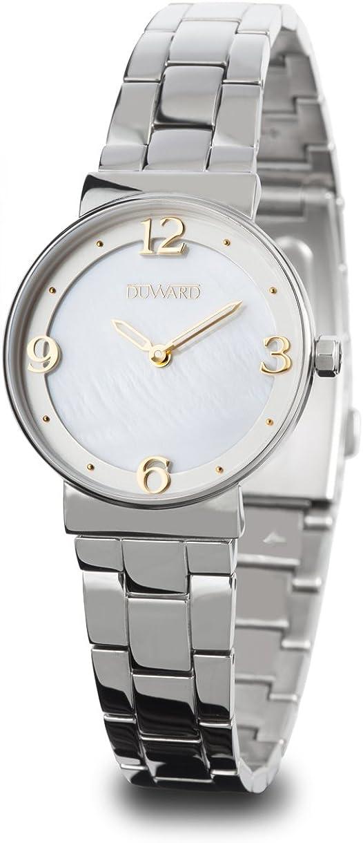 Reloj Duward para Mujer de Acero con 2 Agujas de Color Blanco y Dorado D25107.00