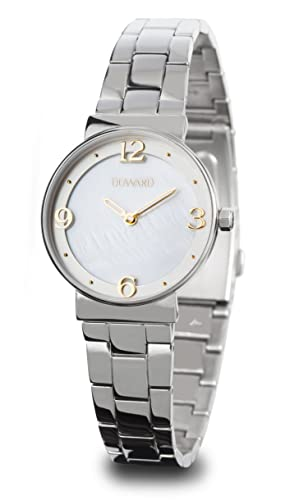 Reloj Duward para Mujer de Acero con 2 Agujas de Color Blanco y Dorado D25107.00: Amazon.es: Relojes