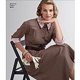 vintage clothing patterns - Simplicity Pattern 8251 H5 Misses' Vintage 1950s One-Piece Dresses, Size 6-14