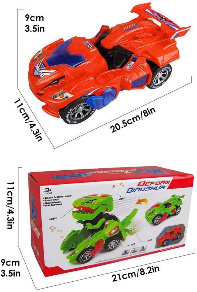 disanot Deformed Dinosaur Car Electric LED Light Music Toy Children Gift Bedroom Sets