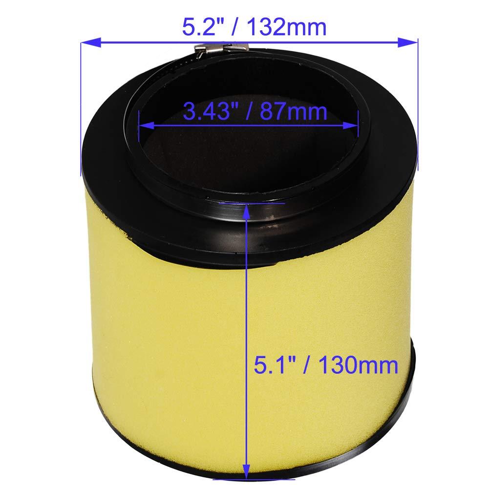 HIFROM ATV Air Filter Element Cleaner with Oil Filter Spark Plug Tune Up kit for Honda Rubicon TRX500FA TRX500FGA TRX500FPA TRX680FA SXS700M2 Replace 17254-HPO-A00 15412-KEA-003