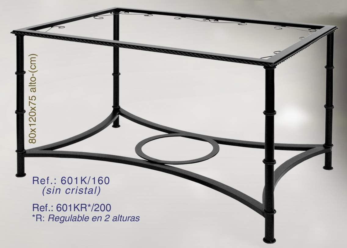 Rustiluz Mesa de forja Modelo Cádiz 601kr Regulable en Altura ...
