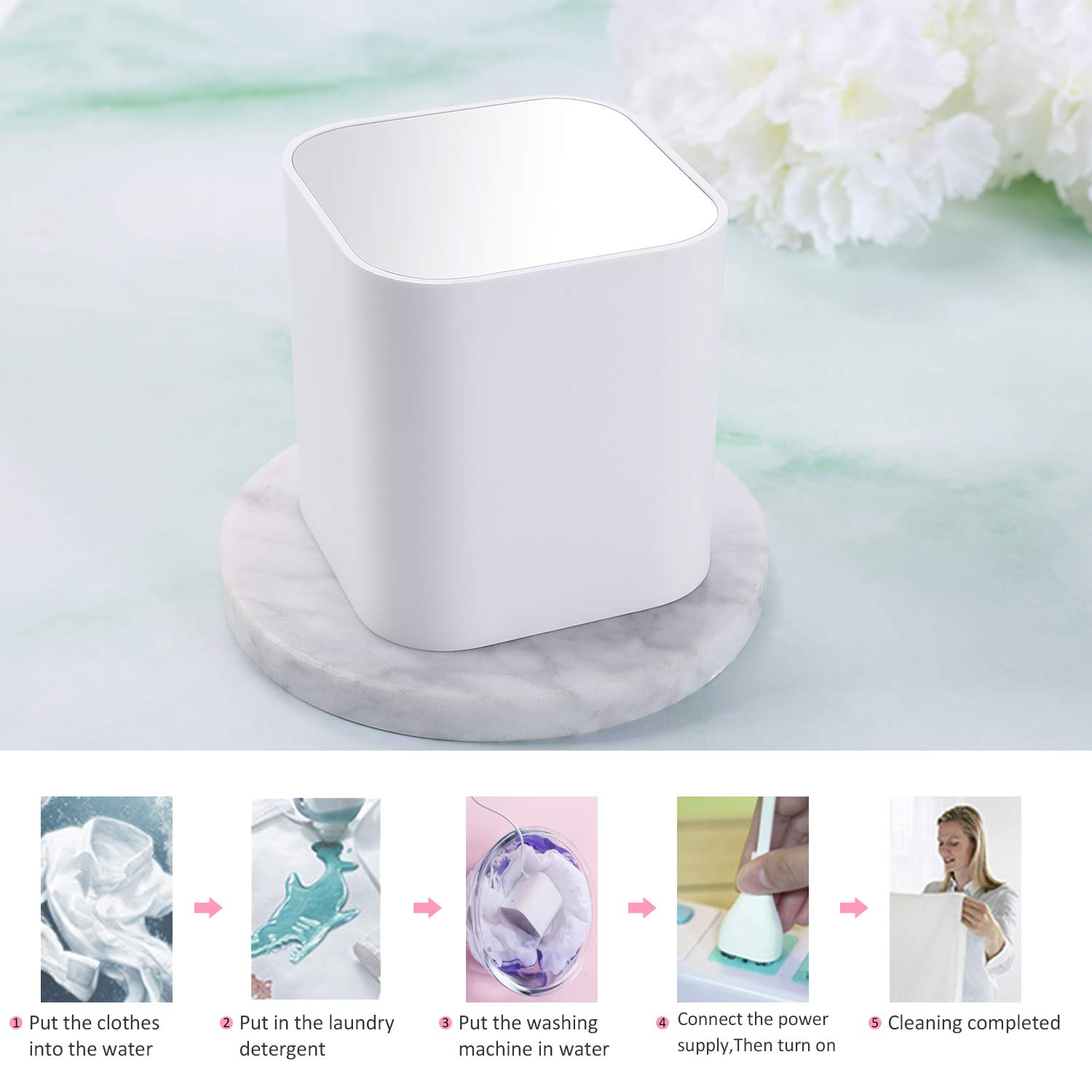 cups et mini Ultrasonic Multi-Function Cleaner for washing underwear jewelry Ultrasonic washer razors makeup brushes Kevinste portable Ultrasonic washing machine watches fruits baby products