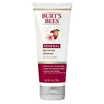 Burts Bees Renewal Refining Cleanser, Firming Face Wash, 6 oz dermactin-ts deep cleansing nose strips