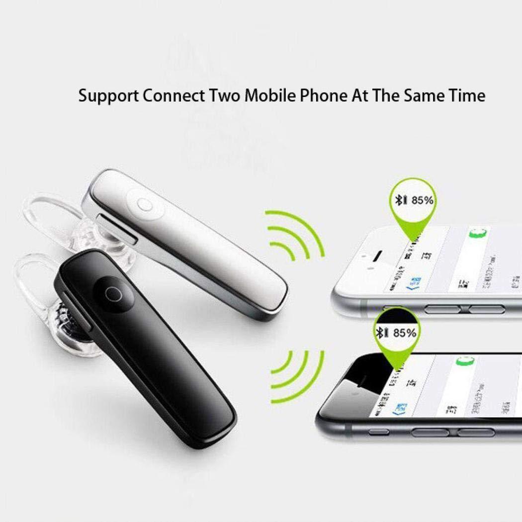 Qulista Mini Gancio per Orecchio Unilaterale Vivavoce Stereo Senza Fili Bluetooth Headset Cuffie Bluetooth