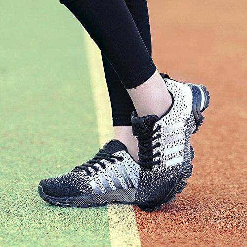 Hommes Femmes Sport Chaussures Running Basketball Sneakers Été Noir 37