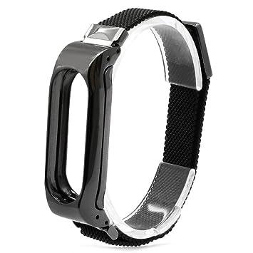 Logobeing Para Xiaomi Mi Band 2 - Nueva Pulsera de Acero Inoxidable Correa de Reloj Inteligente para Xiaomi Miband 2 (Negro): Amazon.es: Juguetes y juegos