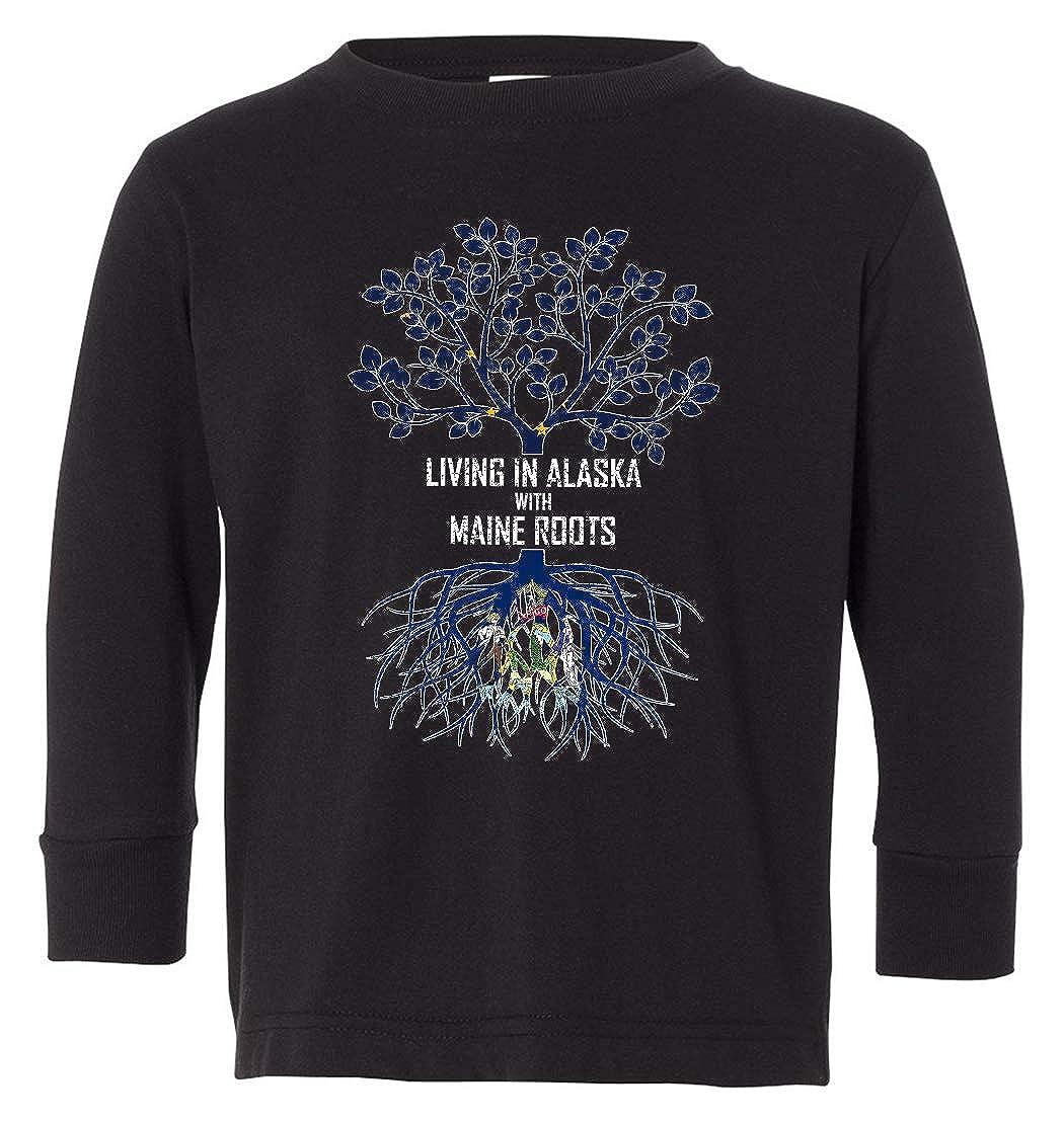 Tenacitee Babys Living in Alaska Maine Roots Shirt
