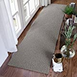 """Super Area Rugs, Cozy Solid Light Gray High Pile Shag Rug Runner, 2' 7"""" x 8'"""