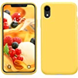"Goutoday iPhone XR Cases, Slim Liquid Silicone Soft Rubber Shockproof Protective Case Cover Compatible with iPhone XR 6.1"" Soft Microfiber Lining with Full Body Protective Case Cover (Yellow)"