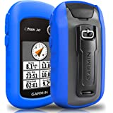 TUSITA Case with Screen Protector for Garmin eTrex 10 20 20X 30 30X - Silicone Protective Cover Skin - Handheld GPS Navigator Accessories (Blue)