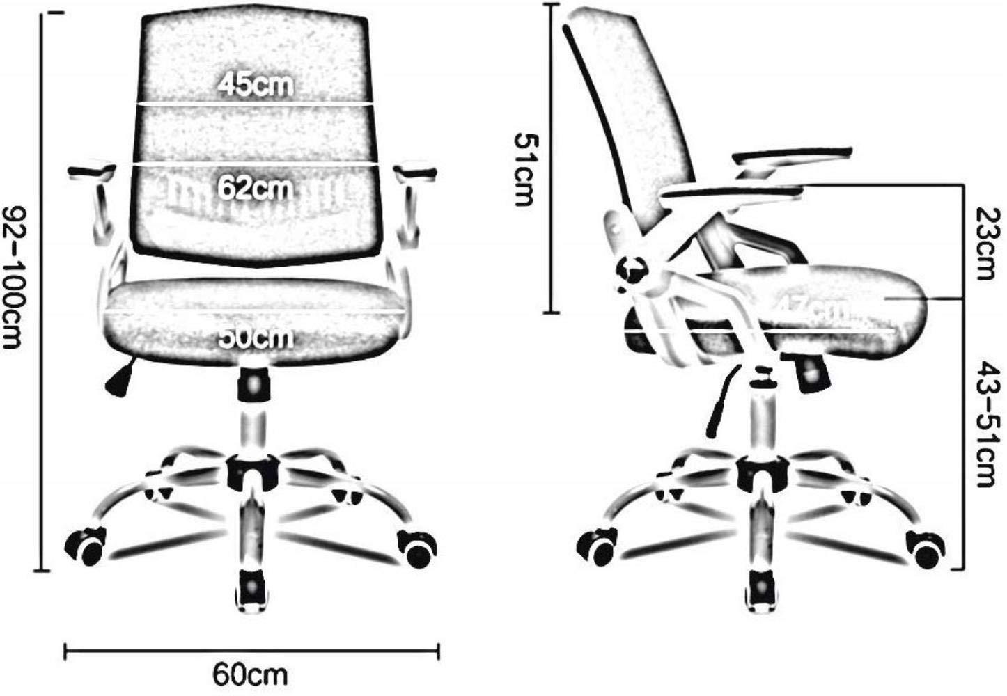 Xiuyun kontorsstol spelstol svängbar stol, studentstol, arbetsstol, skrivbord stol, datorstol, ryggstödstol, företagsstolar (färg: Rosa) BLÅ