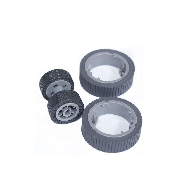 SLON New Scanner Brake and Pick Roller Set For Fujitsu Fi-7160 Fi-7180 Fi-7260 Fi-7280 PA03670-0001 PA03670-0002
