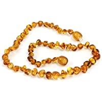 Momma Goose Amber Teething Necklace, Honey Baroque, Small