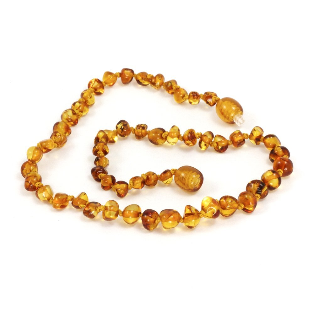 Momma Goose Amber Teething Necklace, Honey Baroque, Small 1004S