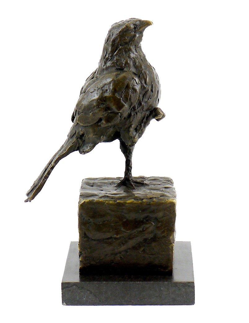 Scultura in bronzo su marmo fiero uccello firmato Rembrandt Bugatti