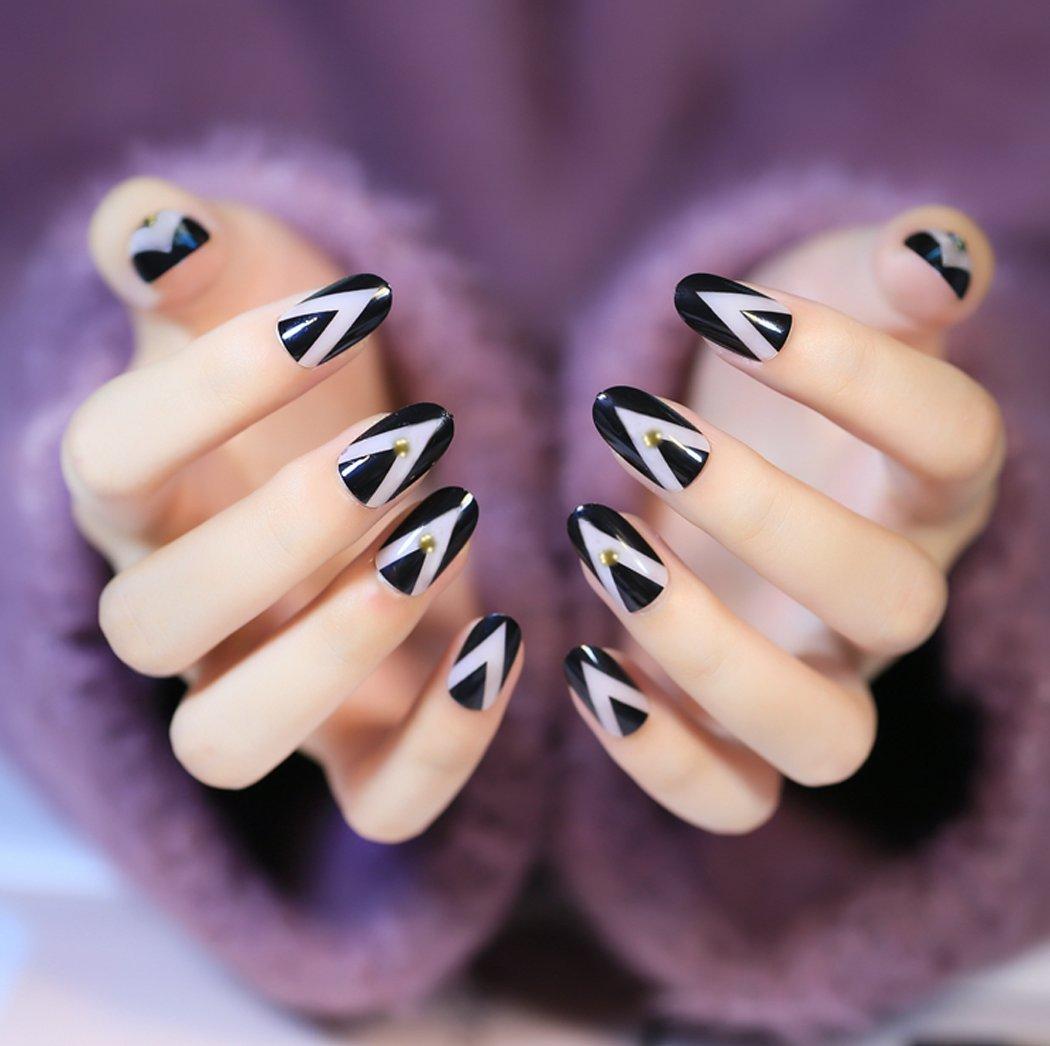 jovono Oval completo uñas postizas Tips Uñas Postizas Para Las Mujeres y Las Niñas: Amazon.es: Belleza