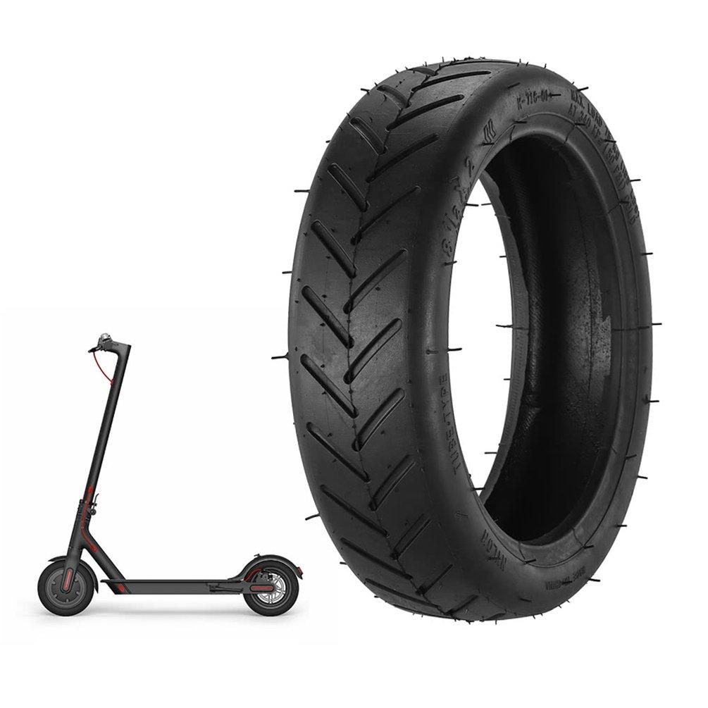 Runacc 8 1/2 x 2 Solid pratico scooter elettrico gomma pneumatico durevole sostituzione dei pneumatici antiscivolo esterno del pneumatico per Xiaomi M365 monopattino elettrico, nero