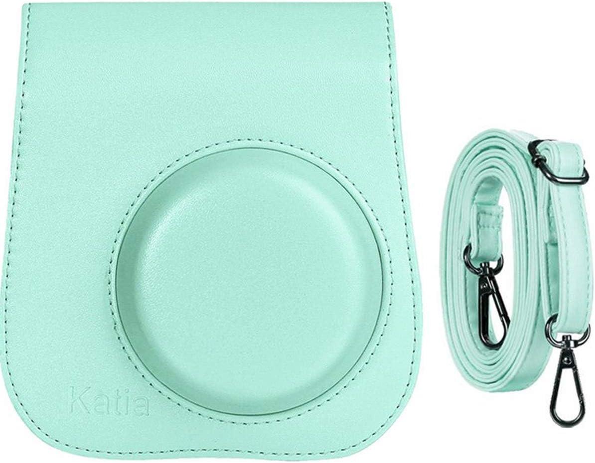 Katia Camera Case Bag Compatible for Fujifilm Instax Mini 11/9/ 8+/ 8 Instant Film Camera with Shoulder Strap and Photo Accessories Pocket - Ice Blue
