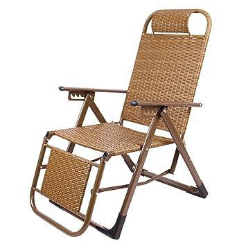ZDYHQ Silla de Mimbre Silla Plegable reclinable Ocio Silla ...