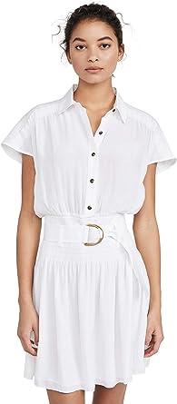 Ramy Brook Women's Stacy Short Sleeve Shirt Dress with Belt