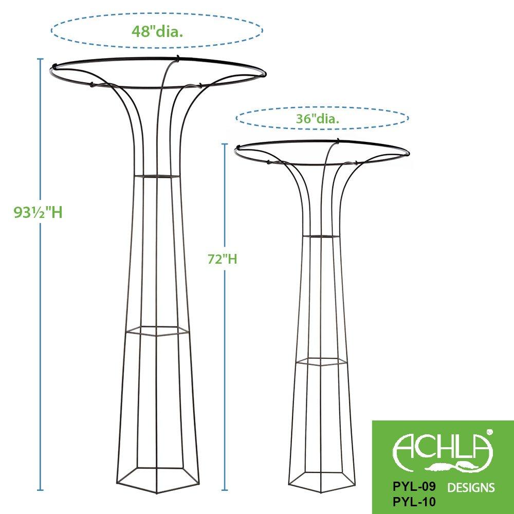 Achla Designs Mushroom Garden Trellis, 72-in