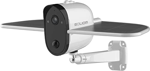 SOLIOM S60 Outdoor Solar Battery Powered Security Camera, 1080P Home Wireless IP Camera with Accurate Motion Detection Wide Angle Range, Quick Alert and Night Vision