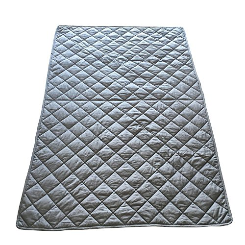 61wunxAI7iL - Dr. Hart's Weighted Blanket Kid's Quilt | Heavy Gravity Blanket for Anxiety Relief & to Improve Sleep | Natural Sleep Aid & Stress Relief | Calming Weighted Comforter & Cover | 15 lbs | 60x80