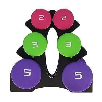 lahomie Mancuernas con Soporte para Fitness, 6pcs Hand Fitness ...