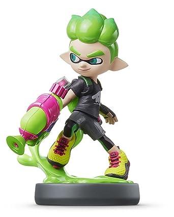 Amazon Com Nintendo Amiibo Inkling Boy Neon Green Splatoon