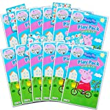 Peppa Pig Play Pack Grab n' Go Set ~ Set of 12 Peppa Pig Play Packs with Crayons and Stickers (Peppa Pig Coloring Books)