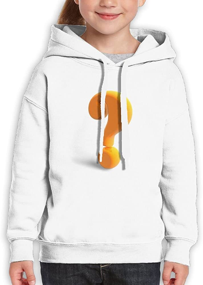 SmallHan Teen The Orange Capital question Mark Leisure Hiking White Hoody