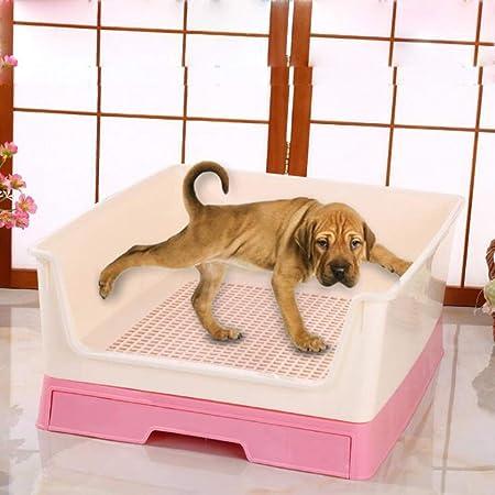 Aseo Grande Del Entrenamiento Del Perro De La Litera Festoneado Perro Cercado Caja Del Enrejado Para Ir Al Baño Para Mascotas Para Perros De Perrito Gatos Pad,Rosado: Amazon.es: Hogar