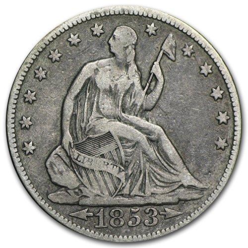 (1853 Liberty Seated Half Dollar w/Arrows & Rays VF Half Dollar Very Fine )