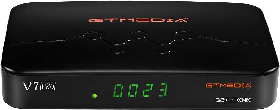 GT MEDIA V7 Pro Decodificador TDT Satelite Combo, con Antena WiFi USB / CA Lector de Tarjeta, Sintonizador TDT, DVB-S/S2/S2X DVB-T/T2 Full HD 1080p ...