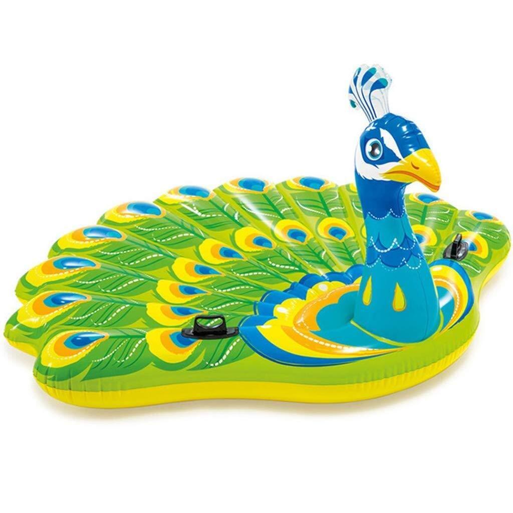 Zzyff Plage Salon Gonflable de Piscine de Parcravate de Piscine de baignade de Radeau de Paon Gonflable de Piscine de Paon pour des Adultes et des Enfants, 195x165x95cm Un Jour férié