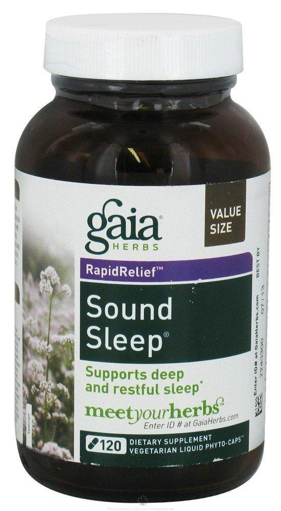 Gaia Herbs, Sound Sleep Herbal formula, 120 Veggie Liq Caps