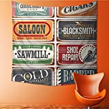 Wall Hanging Tapestries Dated Shop Store Label Icons Manufacturing Commercials Textured Design Bedroom Living Room Dorm Decor32W x 32L Inch