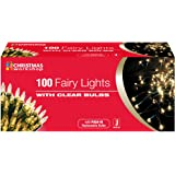 The Benross Christmas Workshop 100 Shadeless Fairy Lights, Clear