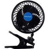 Jhua 12V Car Clip Fan Automobile Vehicle Cooling Car Fan Powerful Quiet Speedless Ventilation Electric Car Fans With…