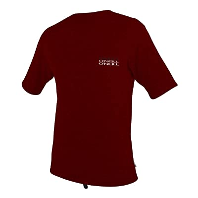 O'Neill Basic Skins Rash Tee, Burgundy - Medium