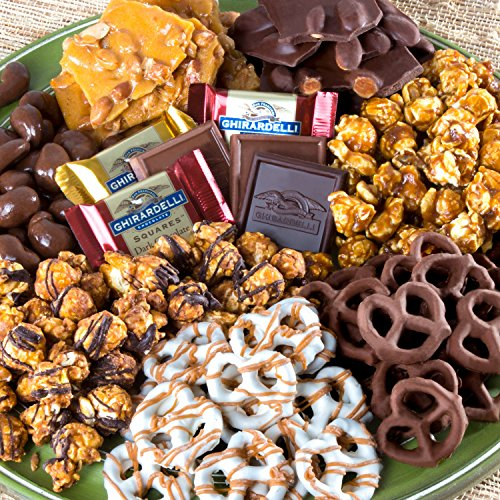 A Gift Inside Chocolate Caramel and Crunch Grand Gift Basket for Christmas, Chocolate Crunch, 1 Count