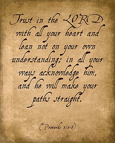 Trust In The Lord (Proverbs 3:5-6), bible verse art print