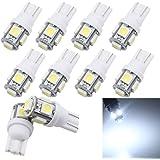 Grandview 10pcs T10 W5W LED Canbus Super Bright White 501 194 168 3030 12-SMD Error Free Bulbs For Interior Light Bulbs Signal Dashborad Parking Sidelight Bulbs 9V-26V