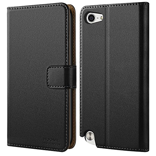 5th Black Leather (iPod Touch 5 Case, iPod Touch 6 Case, HOOMIL Premium Leather Protective Case Cover for Apple iPod Touch 5 6th Generation (Black))