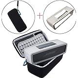 Gubest Bose Soundlink Mini IとMini II ブルートゥース スピーカー のためのソフトカバー付き持ち運び用ケース。保護ポーチボックス (黒+グレー)
