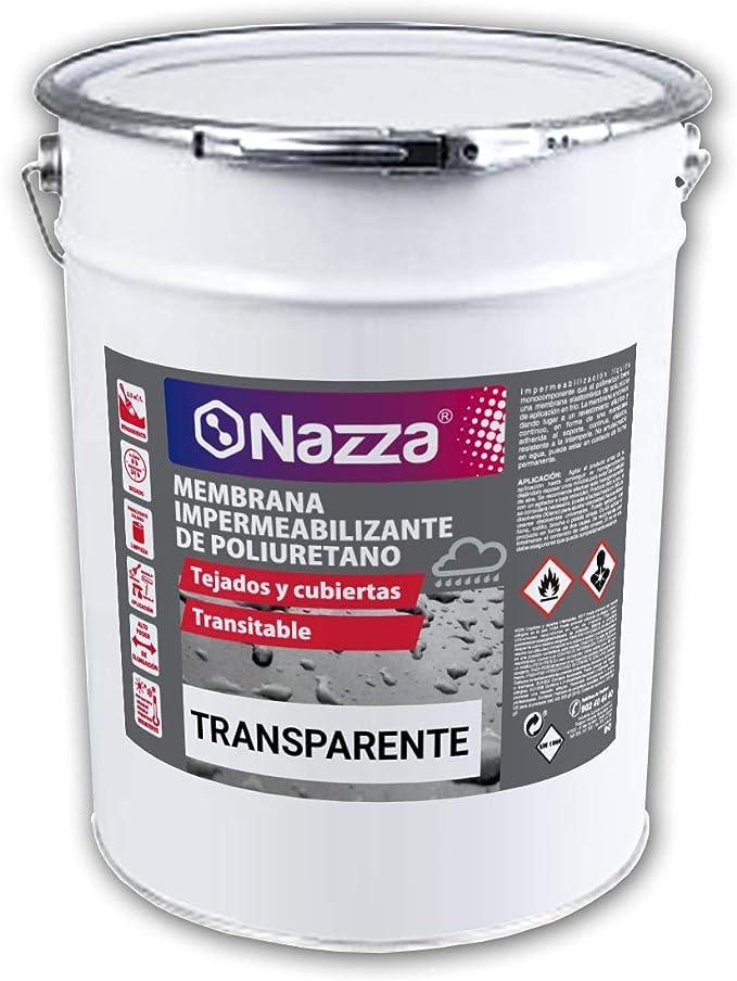 Membrana de Poliuretano Transparente | Poliuretano Líquido Monocomponente para Impermeabilizaciones | 15 Litros: Amazon.es: Bricolaje y herramientas
