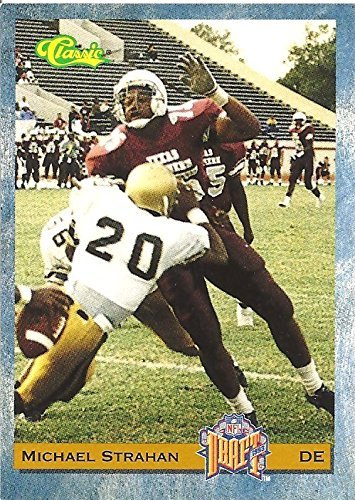 MICHAEL STRAHAN TEXAS SOUTHERN COLLEGE COLLECTIBLE FOOTBALL CARD - 1993 CLASSIC NFL DRAFT FOOTBALL CARD #58 (NEW YORK GIANTS) FREE SHIPPING (Michael Strahan Football)
