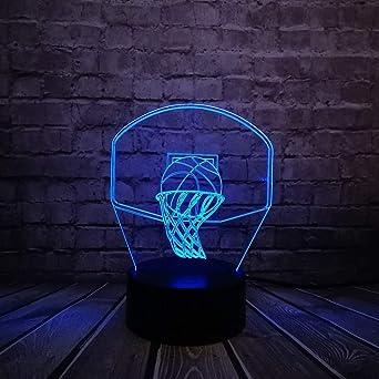 JYHW Baloncesto Deporte Dunk Shoot A Basket Lámpara 3D Luz ...